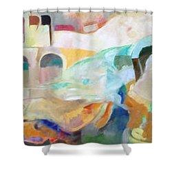 Consoling Yaakov Avinu Shower Curtain by David Baruch Wolk