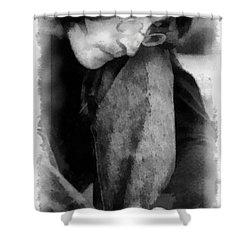 Contemplative John Shower Curtain by Paulette B Wright