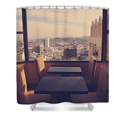 Continental Breakfast Shower Curtain by Laurie Search