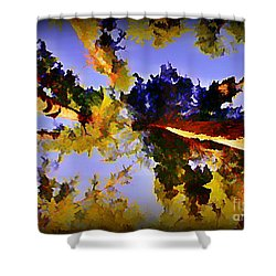 Convergent Perspective Shower Curtain by John Malone Halifax Artist