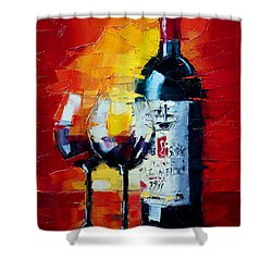 Conviviality Shower Curtain by Mona Edulesco