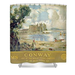 Conway Castle Shower Curtain by Sir David Murray