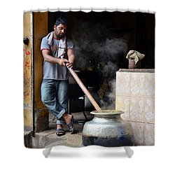 Cooking Breakfast Early Morning Lahore Pakistan Shower Curtain by Imran Ahmed