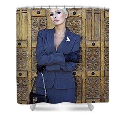 Cool Blonde Palm Springs Shower Curtain by William Dey
