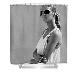 Cool Catherine Palm Springs Shower Curtain by William Dey