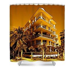 Cool Iron Building In Miami Shower Curtain by Monique Wegmueller