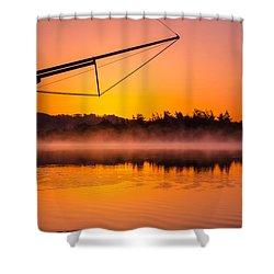 Coos Bay Sunrise II Shower Curtain by Robert Bynum