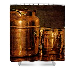 Copper Shower Curtain by Lois Bryan