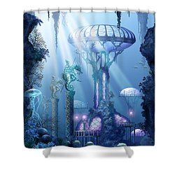 Coral City   Shower Curtain by Ciro Marchetti