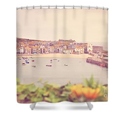 Cornish Harbour Shower Curtain by Lyn Randle
