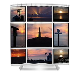 Cornish Sunsets Shower Curtain by Terri Waters