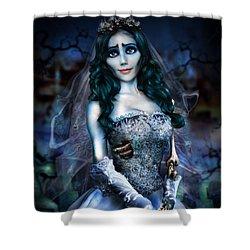 Corpse Bride Shower Curtain by Alessandro Della Pietra