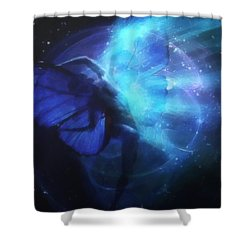 Cosmic Dance Of Joy Shower Curtain by Gun Legler