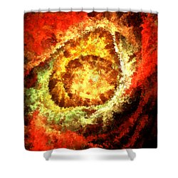 Cosmic Flares Shower Curtain by Lourry Legarde