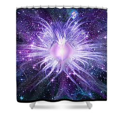 Cosmic Heart Of The Universe Shower Curtain by Shawn Dall