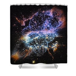 Cosmic Infinity 2 Shower Curtain by The  Vault - Jennifer Rondinelli Reilly