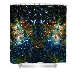 Cosmic Phoenix  Shower Curtain by Jennifer Rondinelli Reilly - Fine Art Photography