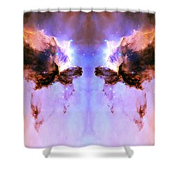 Cosmic Release Shower Curtain by The  Vault - Jennifer Rondinelli Reilly
