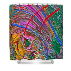 Cosmic Thoughts Shower Curtain by Donna Blackhall
