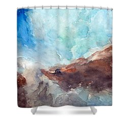 Cosmic Wonder Shower Curtain by Max Good