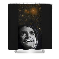 Cosmos- Carl Sagan Shower Curtain by Simon Kregar