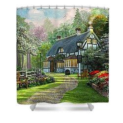 Cottage Pub Shower Curtain by Dominic Davison