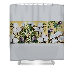 Cotton Triptych Shower Curtain by Eloise Schneider