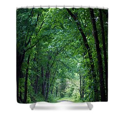 Country Lane Shower Curtain by Cricket Hackmann