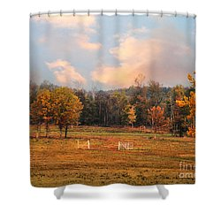 Country Morning Shower Curtain by Jai Johnson