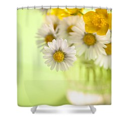 Country Posy Shower Curtain by Jan Bickerton