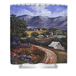 Country Road Shower Curtain by Darice Machel McGuire