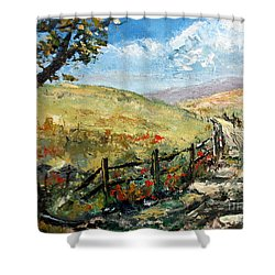 Country Road Shower Curtain by Lee Piper