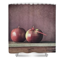 Couple Shower Curtain by Priska Wettstein