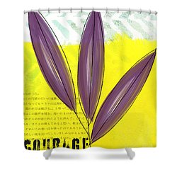 Courage Shower Curtain by Linda Woods