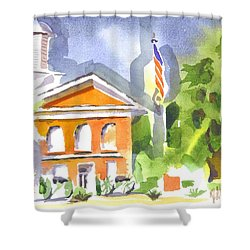 Courthouse Abstractions II Shower Curtain by Kip DeVore