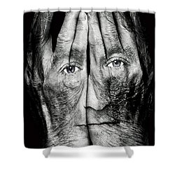 Cover Thy Faces Shower Curtain by Gary Keesler