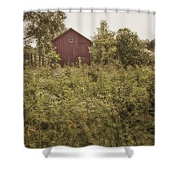 Covered Barn Shower Curtain by Margie Hurwich