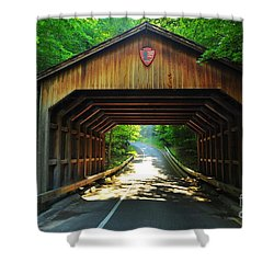 Covered Bridge At Sleeping Bear Dunes National Lakeshore Shower Curtain by Terri Gostola