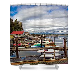 Cowichan Bay Vancouver Island Shower Curtain by Lynn Bolt