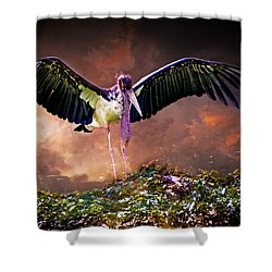 Crane The Lawyer Shower Curtain by Chris Lord