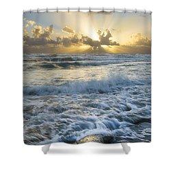 Crash Shower Curtain by Debra and Dave Vanderlaan