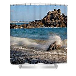 Crashing Of The Waves Shower Curtain by Athena Mckinzie