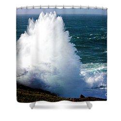 Crashing Wave Shower Curtain by Terri Waters