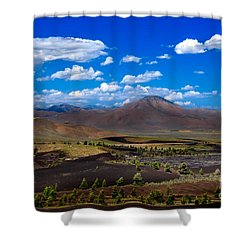 Craters Of The Moon Shower Curtain by Robert Bales