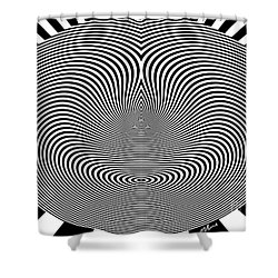 Crazy Circles Shower Curtain by Methune Hively