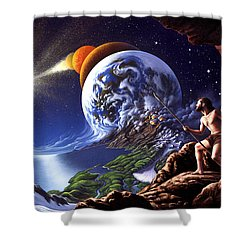 Creation Shower Curtain by Jerry LoFaro
