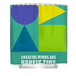 Creative Minds Poster Shower Curtain by Naxart Studio