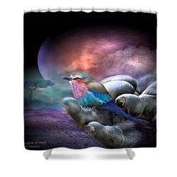 Creatures Great And Small Shower Curtain by Carol Cavalaris
