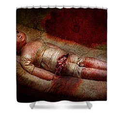 Creepy - Weird - No One Ever Suspected  Shower Curtain by Mike Savad