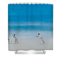 Cricket On The Beach, 2012 Acrylic On Canvas Shower Curtain by Lincoln Seligman